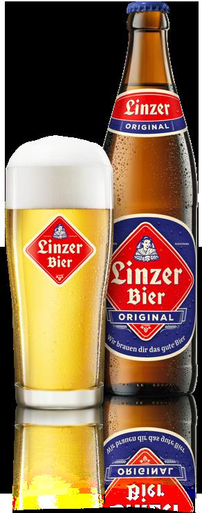 Linzer Bier Original Glas Flasche